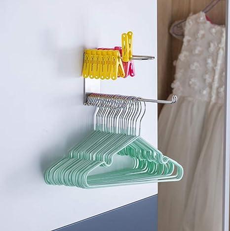 Amazon.com: Percha de pared para colgar ropa organizador de ...