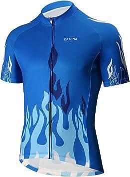 Catena Maillot de Ciclismo Hombre Camiseta Manga Corta Jersey Ropa ...