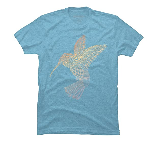 Colibri Men's Small Sky Blue Heather Graphic T Shirt - Design By Humans