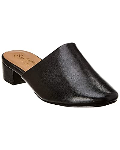 Amazon Com Seychelles Nose Dive Leather Mule 8 Black Shoes