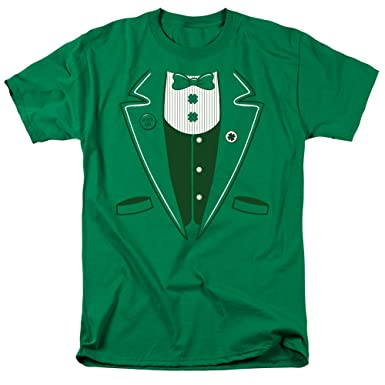 be09f04e1 Amazon.com: Irish Tuxedo -- St. Patrick's Day Adult T-Shirt: Clothing