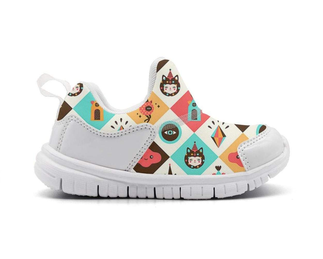 ONEYUAN Children Cartoon cat Magic Pattern Kid Casual Lightweight Sport Shoes Sneakers Running Shoes