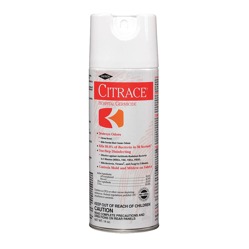 Citrace - Hospital Disinfectant & Deodorizer, Citrus, 14oz Aerosol, 12/Carton 49100 (DMi CT