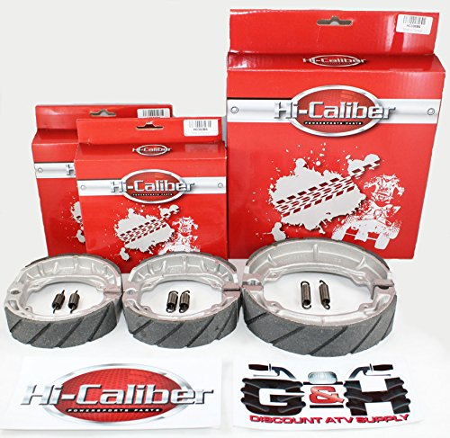 FRONT & REAR SET OF WATER GROOVED BRAKE SHOES + SPRINGS for sale  Delivered anywhere in USA