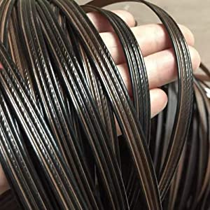 Brown Flat Synthetic Rattan Repair Materials, Plastic Rattan Wicker Repair Tools, Wicker Garden Furniture Repair, Used for Weaving and Repairing Chairs, Tables, Storage Baskets (Brown)