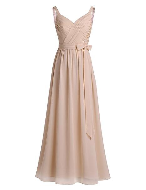 Freebily Vestido Elegante de Boda Fiesta Cóctel para Mujer Dama de Honor Vestido Largo Verano Traje