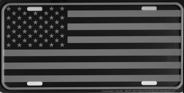 Signs 4 Fun Tactical U.S Flag Metal License Plate