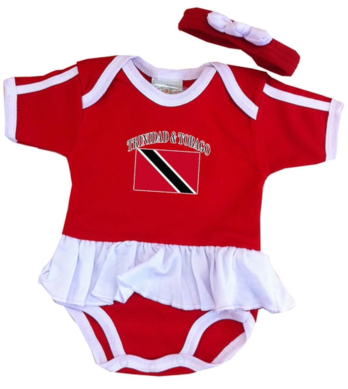Amazon PAM Baby girls Trinidad & Tobago Soccer Ruffle esie