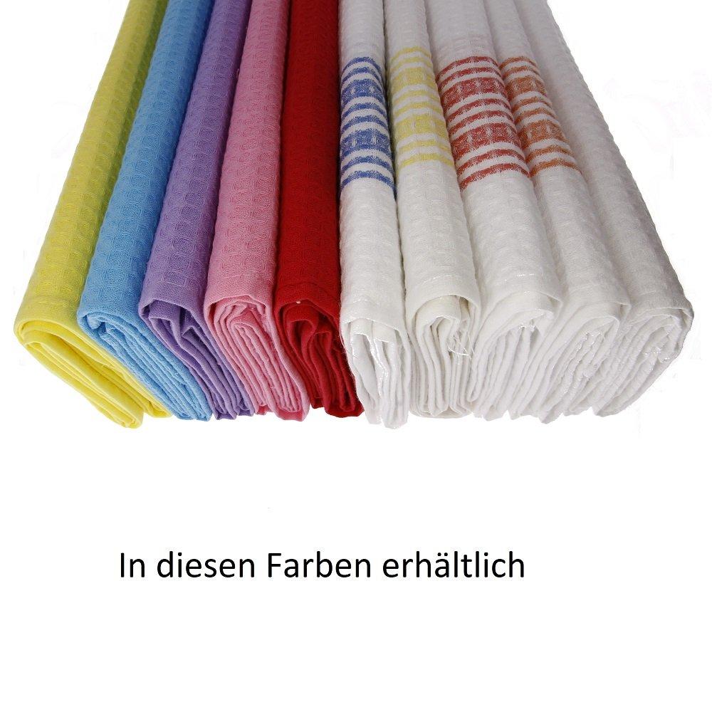 70/x 50/cm 100/% coton 3/x Piquee de Torchon tissu gaufr/é de haute qualit/é couleur: turquoise dans Gastro qualit/é