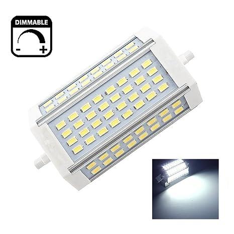 30W R7s 118mm LED del Reflector del Bulbo blanco frío 6000K 200 Grados Doble Composición Reemplazo