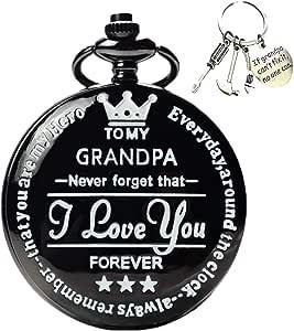 Amazon.com: to My-Grandpa Pocket-Watch-Gifts for Grandpa ...