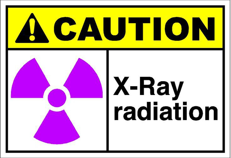 X線Radiation Caution Osha / Ansiラベルデカールステッカー B014JBYV9Q  7 inches x 5 inches