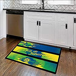 """Rug for Home, Office rio de janeiro horizontal banners poster template set isolated High Absorbency W30"""" x H18"""""""