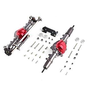 BlackPJenny Lega di Metallo Assale Anteriore Kit ASSE Posteriore Accessorio Combo Ricambi Componente per 1/10 D90 RC4WD Yota II RC Car Crawler