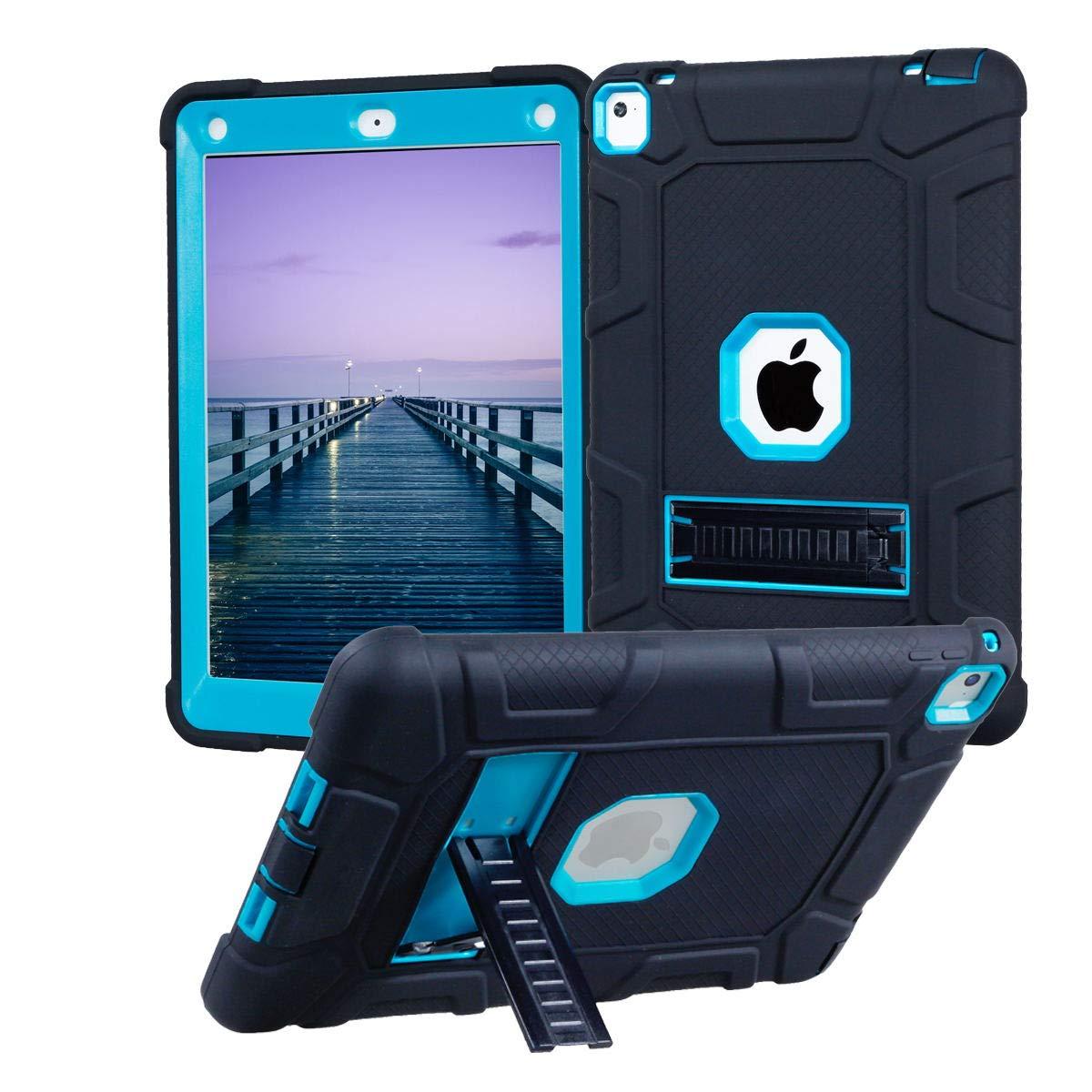 買取り実績  Kickstand iPad Pro B07KW9M6YG 9.7ケース 2016年発売 高耐久 Pro 耐衝撃 ハイブリッド フルボディ 頑丈 3層 ハード PC ソフトラバー 保護カバー iPad Pro 9.7インチ タブレット 2016年発売 ブラック/ブルー B07KW9M6YG, L-スタイル:d2b1bf39 --- a0267596.xsph.ru