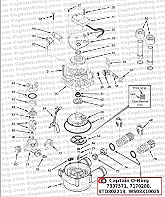 Water Softener O Ring Seal Kit 4 Pack Part 7337571 7170288