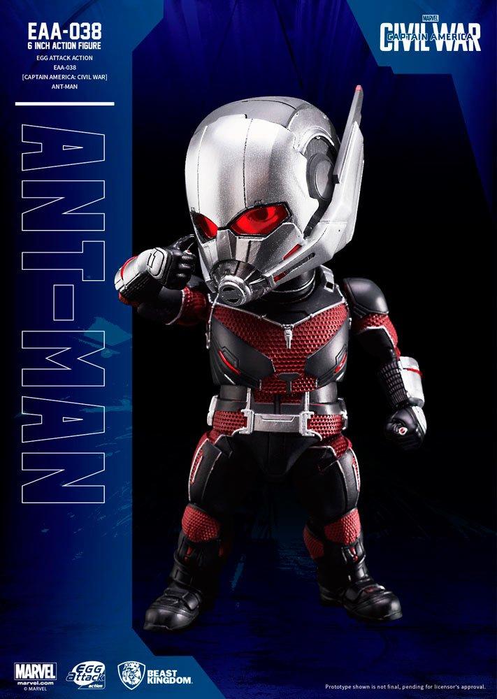 calidad garantizada BEAST KINGDOM Figura de acción del Capitán América de Bestia Bestia Bestia Reino Unido FIGBTK035 Abysse Marvel Guerra Civil Huevo Ataque Edición Ant-Man  respuestas rápidas