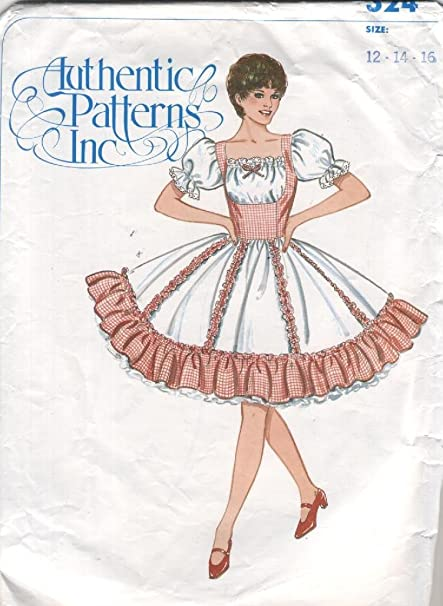 Amazon Authentic Patterns Square Western Dance Dress Sewing