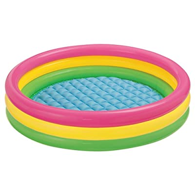 "Intex Kiddie Pool - Kid's Summer Sunset Glow Design - 58"" x 13""-Constructed from Durable Vinyl Kids Sunset Glow Inflatable Pool-Dimensions: 9 x 3.5 x 10 inches ; 23.3 pounds-Ebook for You@: Toys & Games"
