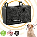 YC° Ultrasonic Mini Bark Control Anti Barking Device Barking Dog Deterrent Training Barking Behavior Outdoors Indoors 50 Feet Range (Black)
