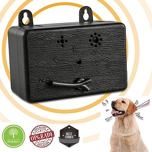 YC° Ultrasonic Mini Bark Control Anti Barking Device Barking Dog Deterrent Training Barking Behavior Outdoors Indoors 50 Feet Range (Black)