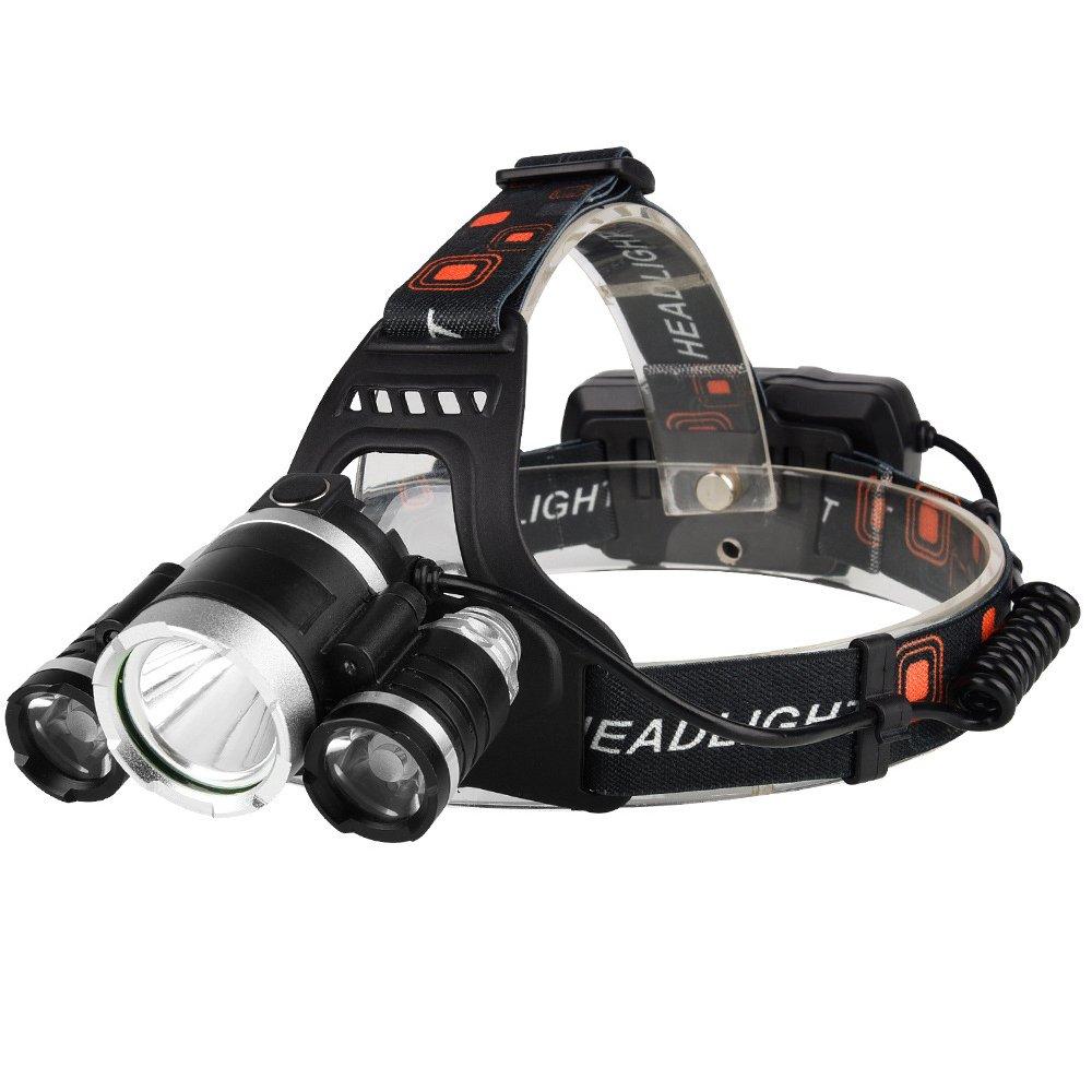 Lampe Frontale Nassonbo Rechargeable Phares à LED Lampe Torche Super Lumineux avec 4 Modes d'Éclairage Fonction Flash Résistante à l'Eau Parfait pour Randonnée, Vélo, Escalade, Chasse, Camping, Pêche, Vélo