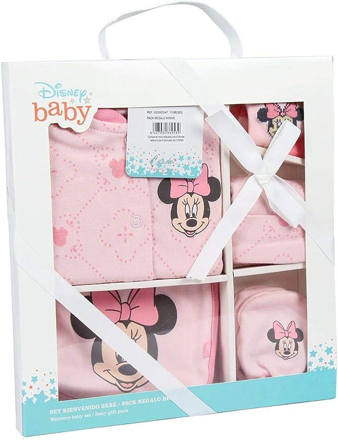 Minnie Mouse 2200005547 Set regalo bebés, Rosa, 1 A 3 meses ...