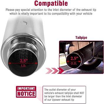 UPOWER turbina de escape Silenciador Resonador/2506 – 304 acero ...