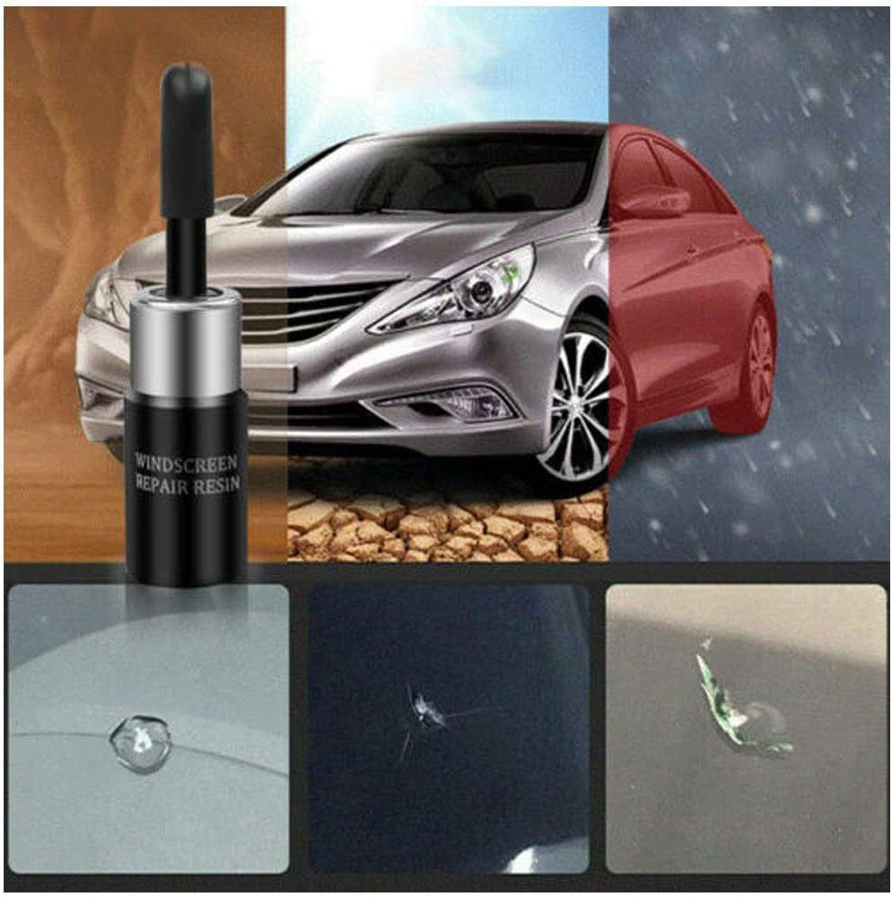 2×SET Automotive Glass Nano Repair Fluid Car Windscreen Windshield Crack Repair