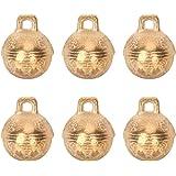 6PCS 1.3inch Vintage Bronze Jingle Bells Antique Copper Bell Brass Bell for Dog Cat Pet Home Door Decor Holiday Christmas Dec