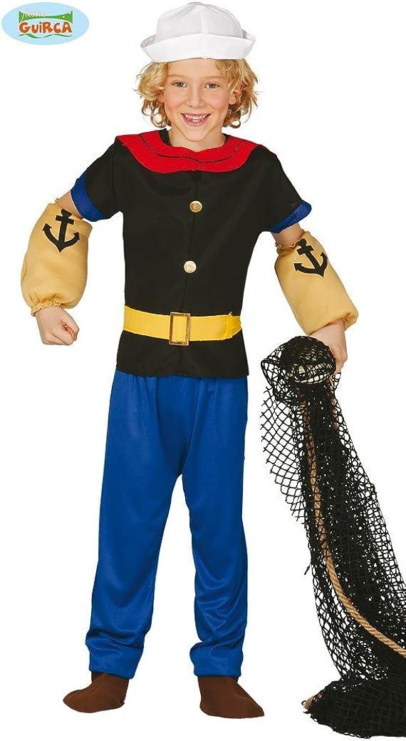 Disfraz de Marinero Popeye para niño - 7-9 años: Amazon.es ...