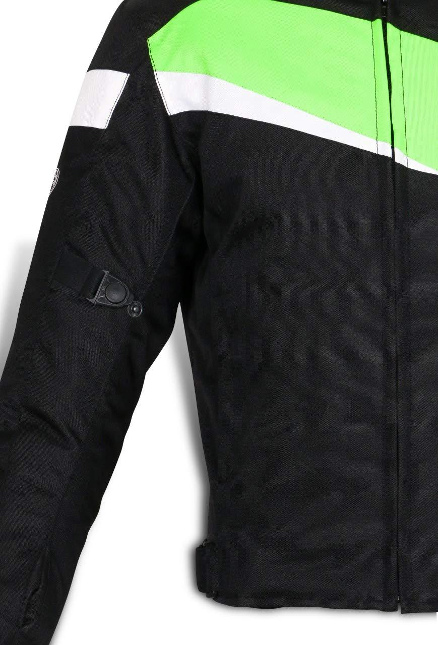 EU 50-52 L JET Chaqueta Moto Ciclomotor Hombre Textil con Protecciones Ligero Basic ECONOTECH , Camo Gris