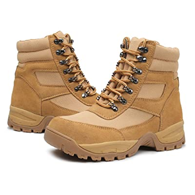 "DRKA Men's 6"" Steel Toe Work Boots,Water Resistant Military Tactical Boots: Shoes"