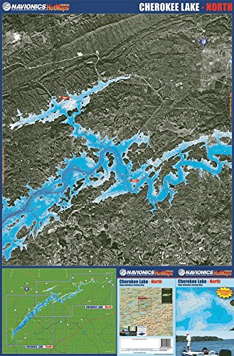 Cherokee Lake, Tennessee, High Definition Fishing Map