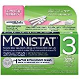 MONISTAT 3 Triple Action System, Combination Pack, 3-day Treatment (Pack of 3)