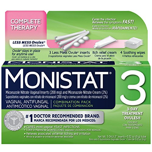 MONISTAT 3 Triple Action System, Combination Pack, 3-day Treatment (Pack of 10) -