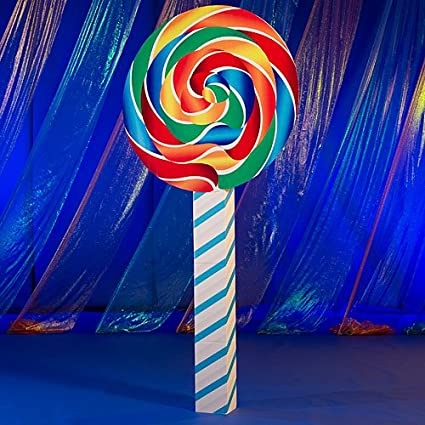 Giant Swirl Lollipop Candy Party Prop Standup Photo Booth Prop Background  Backdrop Party Decoration Decor Scene Setter Cardboard Cutout