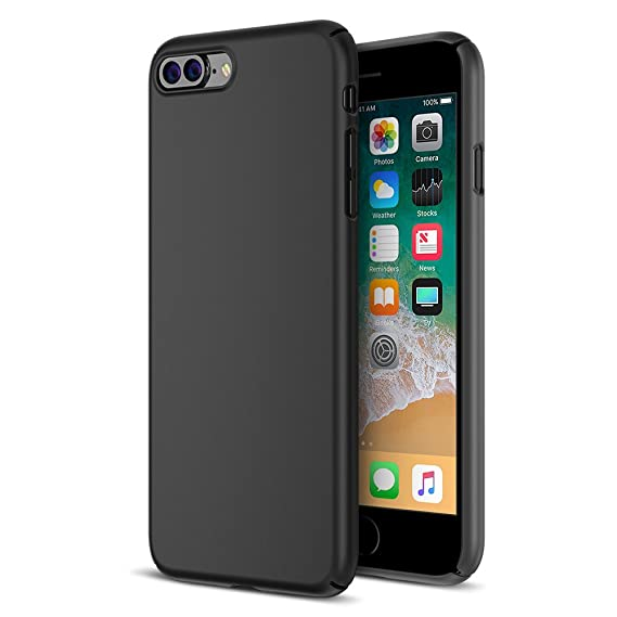 sports shoes d3b9d 446f0 Maxboost iPhone 8 Plus Case, mSnap Apple iPhone 8 Plus/iPhone 7 Plus  [Black] Extreme Smooth Surface [Scratch Resistant] Matte Coating for  Excellent ...