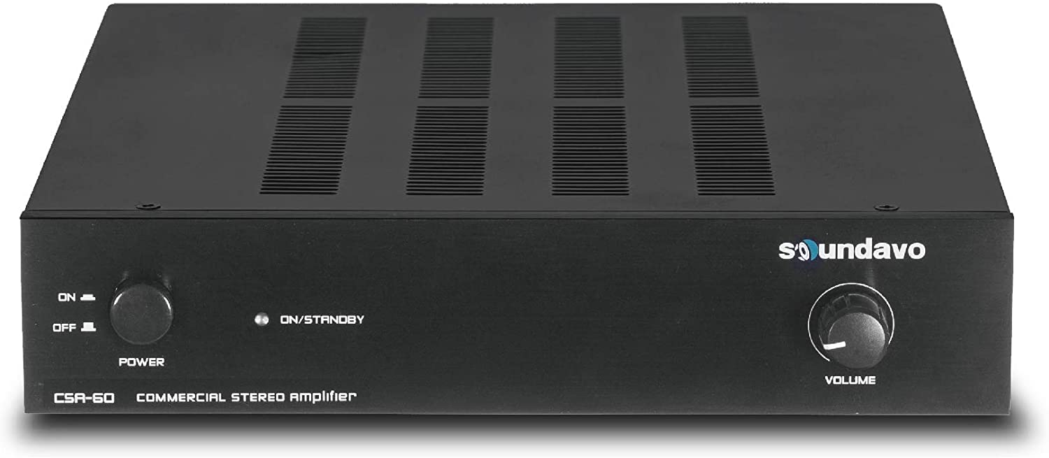 Soundavo CSA-60 Stereo Amplifier for Home Audio, Residential and Commercial Installation 180W bridgeable