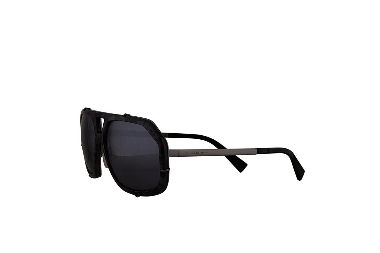 a8660fa226 Dolce   Gabbana Authentic Sunglasses DG2167 Grey w Grey Blue Lens 1108Y6 DG  2167 (61mm)  Amazon.co.uk  Clothing