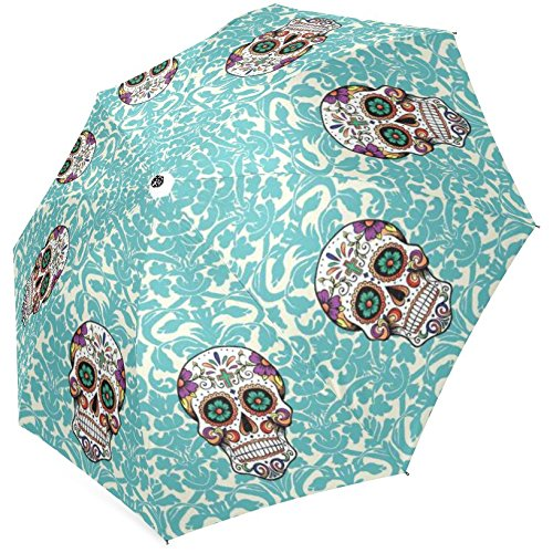 InterestPrint Stylish Sugar Skull Foldable Umbrella