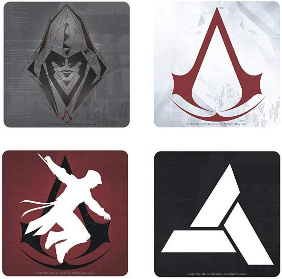 Amazon Com Genuine Assassin S Creed Symbols Set Of 4 Coasters