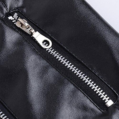 Giacca prevenzione Lunga Donna queen Moto Nero Corto Calda M Wind Outwear Pu Jackets Manica Revers Inverno Pelle Di Stile Punk Autunno Giacche wfExzzPq