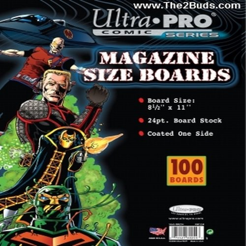Ultra Pro Magazine Size Boards (Pack of 100) (Best Way To Cut Backer Board)
