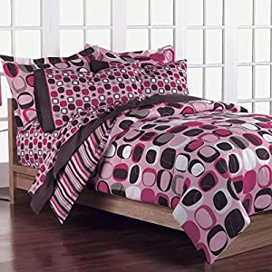 Amazon Com Girls Teen Pink And Brown Geometric Circles 7