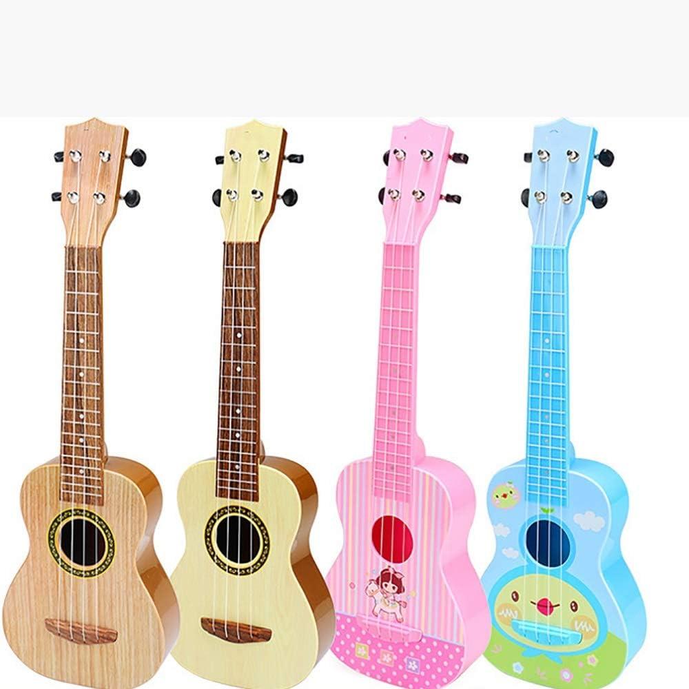 ERWEF Primera Infancia Educación Guitarra de Juguete de Madera Ukelele, Guitarra en Mano Tocando la aclaración del Rompecabezas de Instrumentos Musicales (Color : C) B