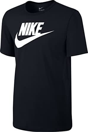 Amazon.com: Nike Mens Futura Icon T-Shirt Black/White 624314 ...