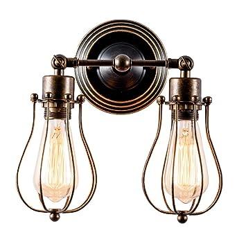 Wandlampe Retro Verstellbar Metall Wandlampe Antik Wandleuchte Vintage Lampen  Landhausstil Für Landhaus Schlafzimmer Wohnzimmer Esstisch (