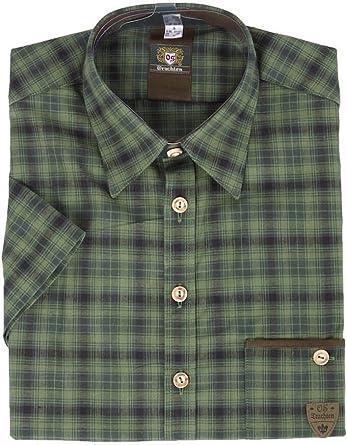 orbis Textil - Camisa Casual - para Hombre Verde 38: Amazon ...