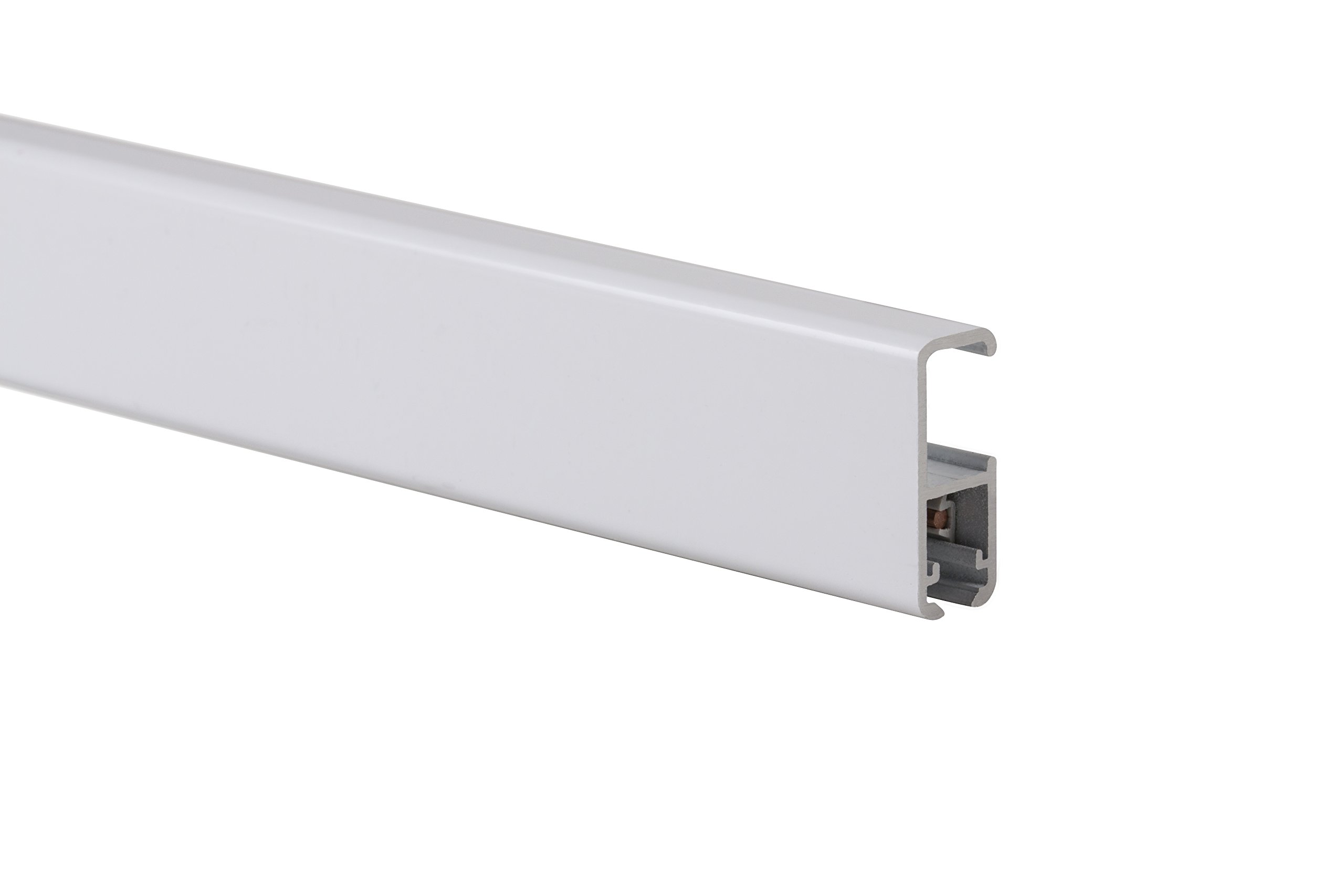 STAS art hanging system: STAS cliprail pro white 200cm 78.75 inch + installation kit